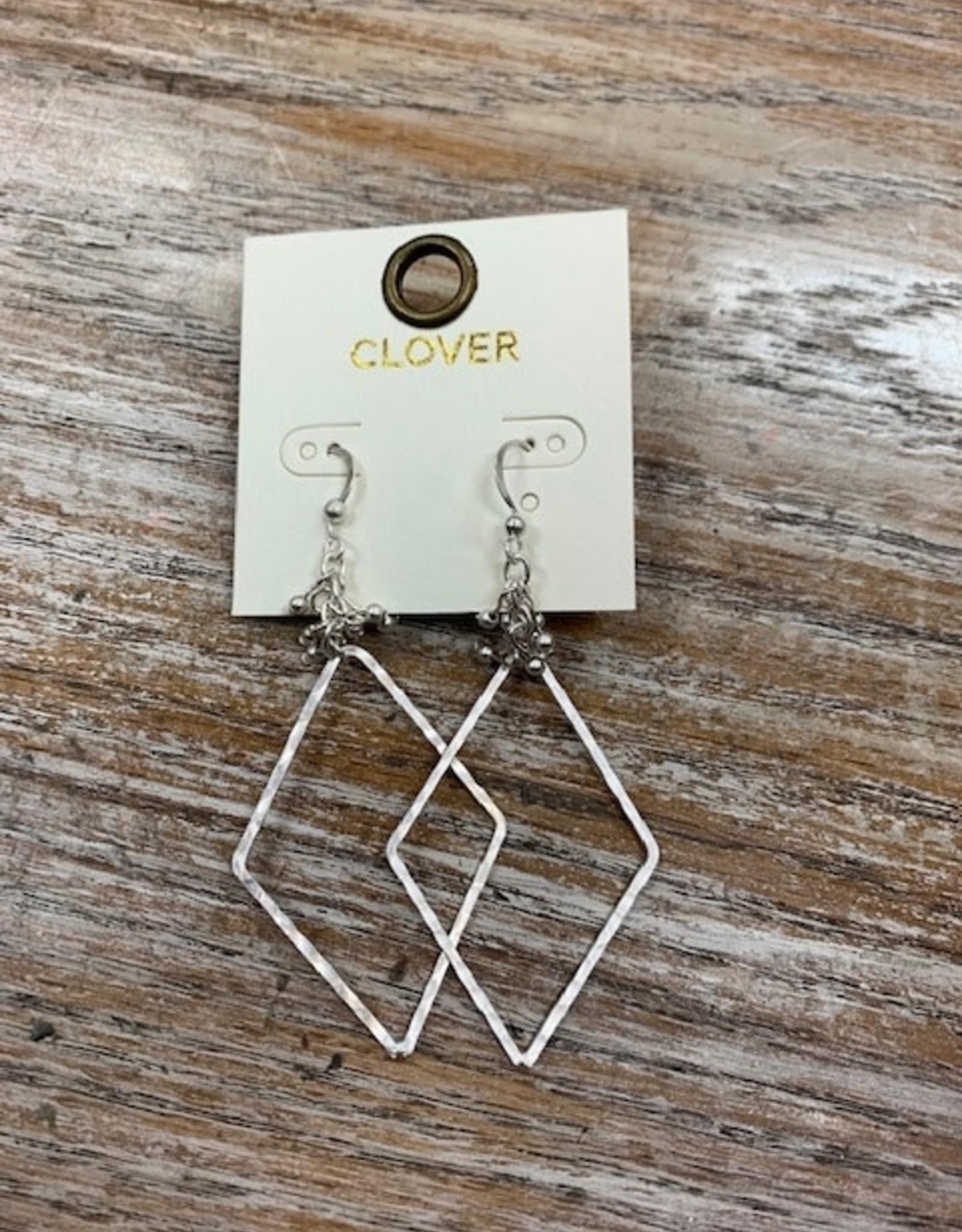 Jewelry Silver Triangle Bead Earrings
