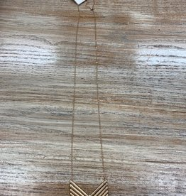 Jewelry Long Gold Bar Arrow Necklace