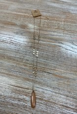 Jewelry Long Gold Stone Pendant Necklace