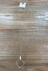Jewelry Long Silver Funky Shape Necklace