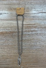 Jewelry Silver Ball Chain Arrow Pendant Necklace
