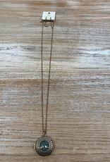 Jewelry Long Gold Turq Tree Locket Necklace