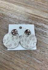 Jewelry TLD Nude Leopard Stud Earrings