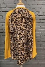 Long Sleeve Gabrielle Mustard LS Leopard Back