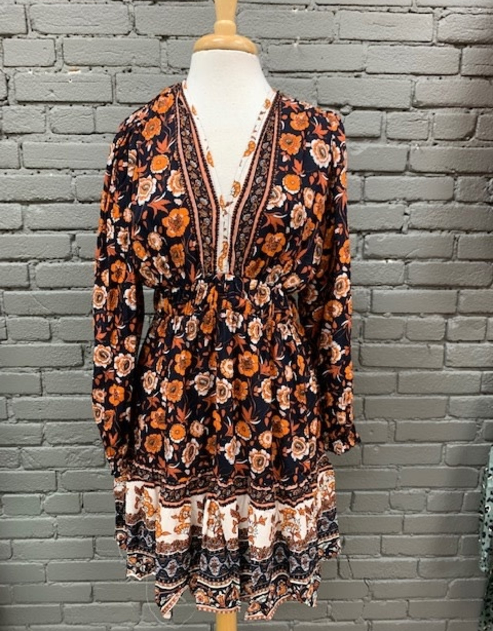Dress Autumn Floral LS Dress