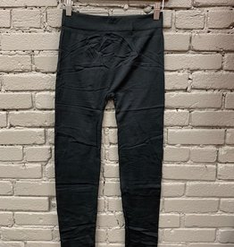 Leggings Black Solid Fleece Leggings