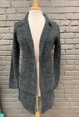 Sweater Kylie Notched Collar Pocket Sweater