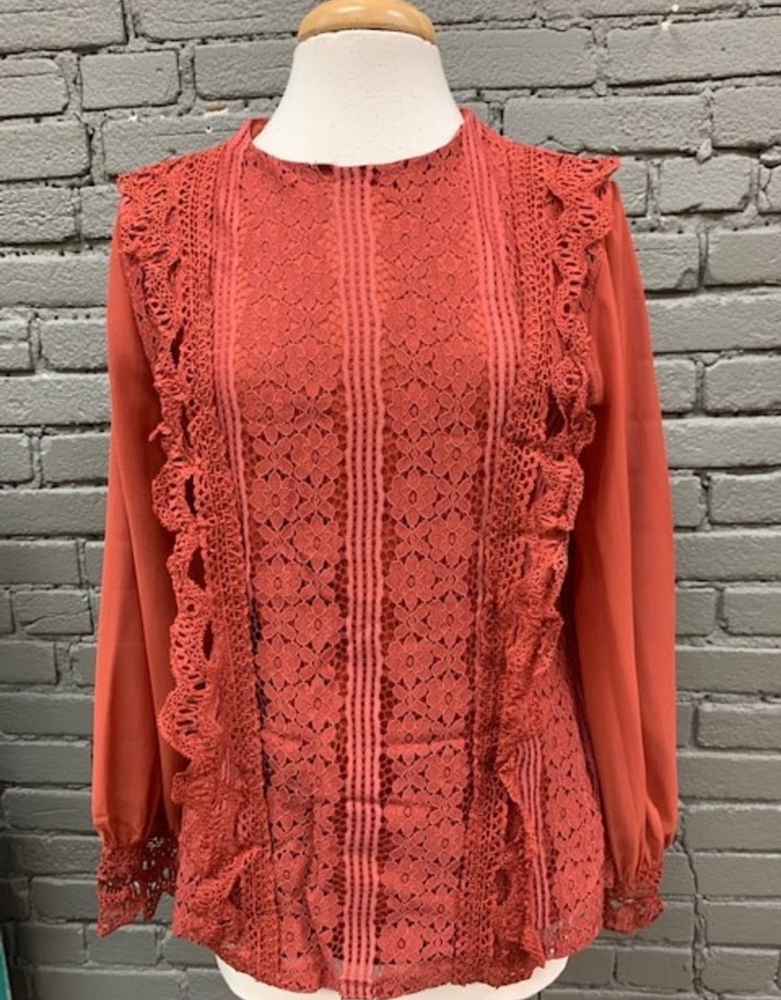 Long Sleeve Tracy Lace Crochet LS