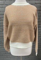 Sweater Marilyn drop shoulder stripped sweater
