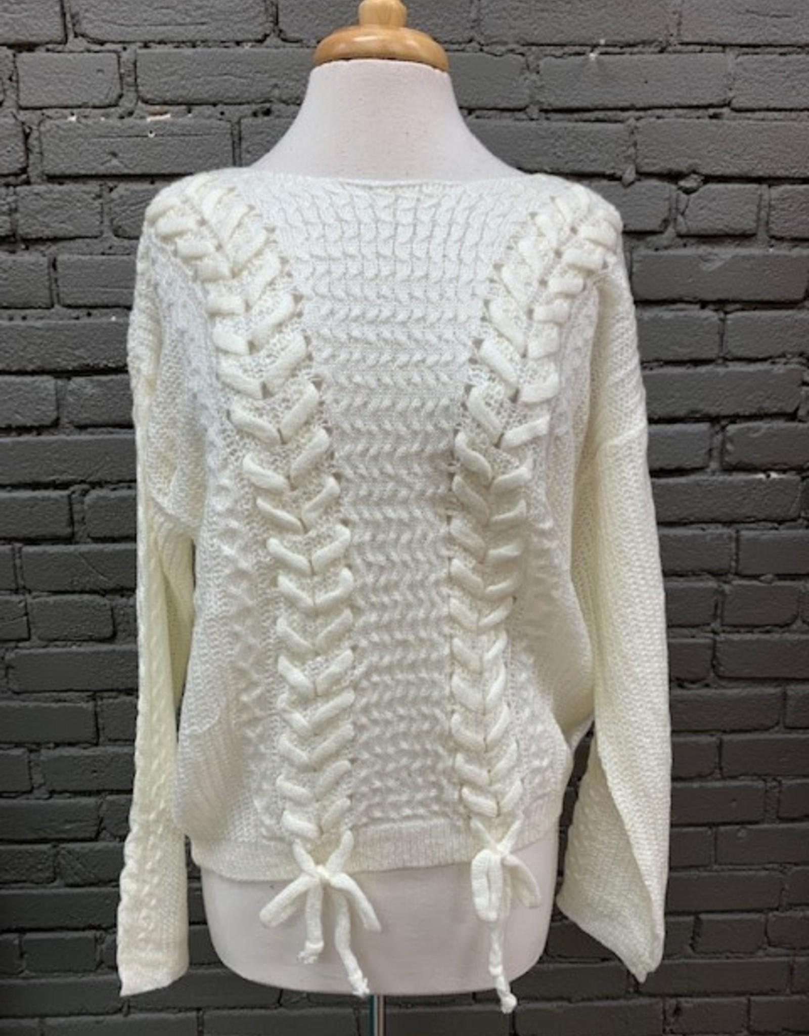 Sweater Leslie Braided Sweater