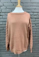 Sweater Annette Puff Dot Sleeve Sweater