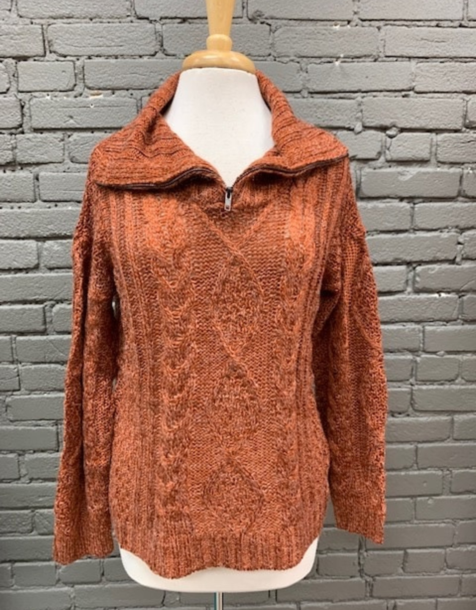 Sweater Sienna Half Zip Cable Sweater