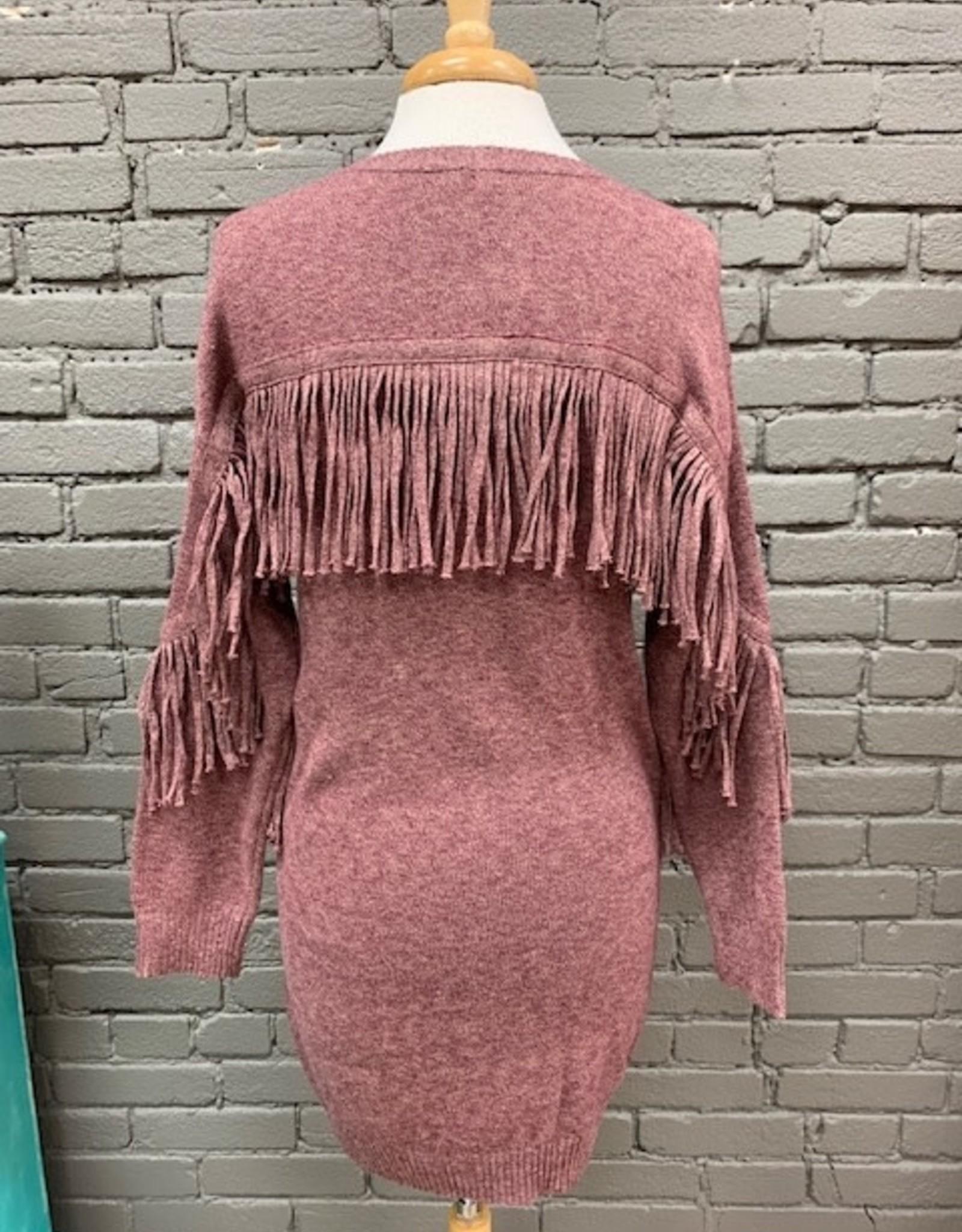 Dress Laura Fringe Sweater Dress