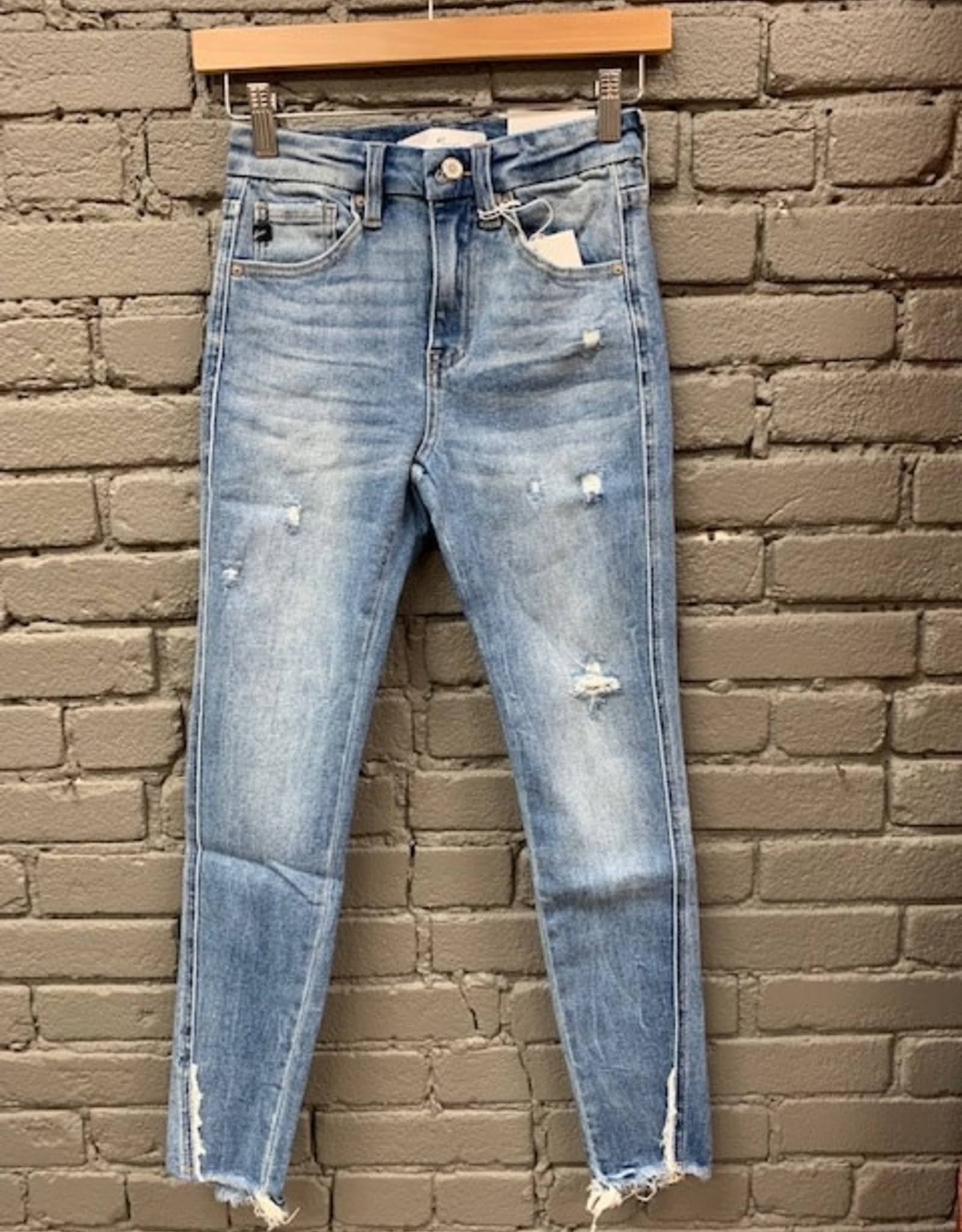 Jean Mindy High Rise Tear Fray Jeans