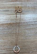 Jewelry Bronze Necklace w/ Silver Wire Circle