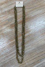 Jewelry Long Beaded Olive Necklace