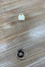 Jewelry Silver Double Circle Necklace