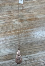 Jewelry Long Rose Gold Triple Shape Necklace