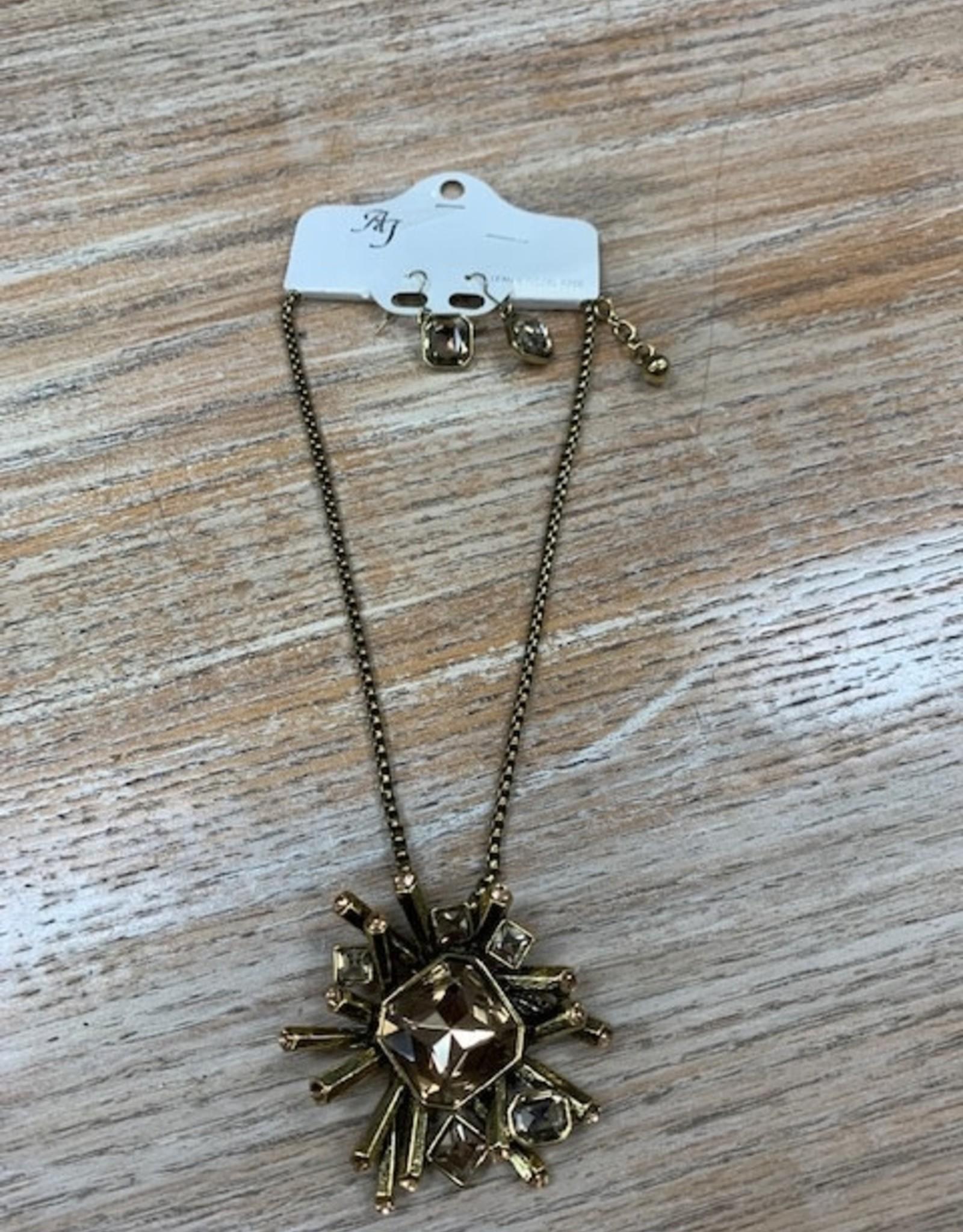 Jewelry Bronze Funky Gem Necklace