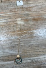 Jewelry Long Multi Circle Necklace
