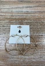 Jewelry Gold Wire Ovals Earrings