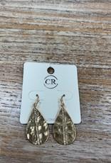 Jewelry Gold Teardrop Rhinestone Earrings