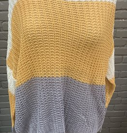 Sweater Deanna mustard and gray sweater