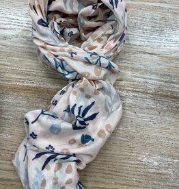 Scarf Light pink floral scarf