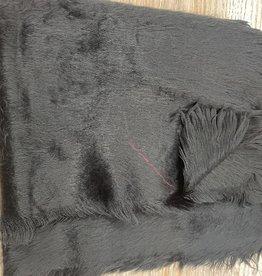 Scarf Black soft furry scarf