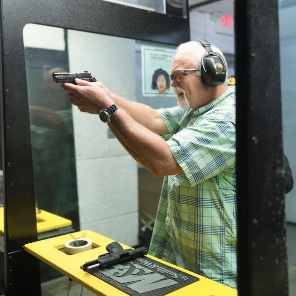 Shoot A Pistol Package - includes range time, 1 rental pistol, and rental eye and ear protection.  Plus 10% off ammo
