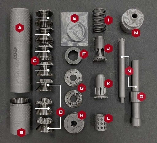 Microtech R2K9 9mm Suppressor, Coyote Tan