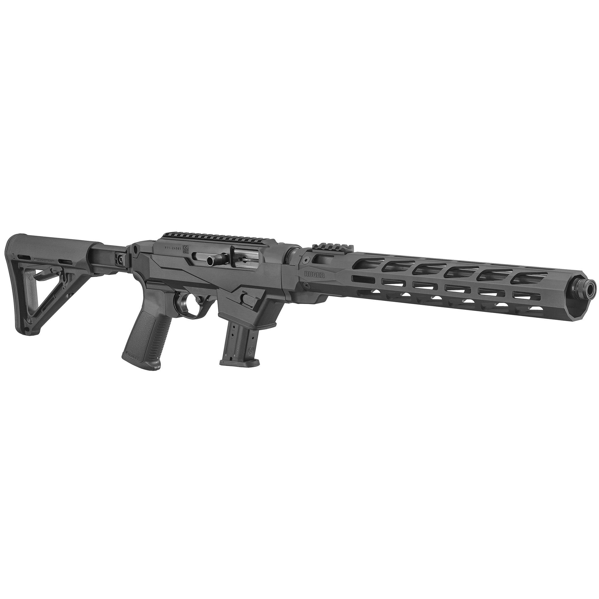 Ruger PC Carbine 9mm Luger 16.12'' 17+1 Black Hard Coat Anodized Adjustable Magpul MOE Stock