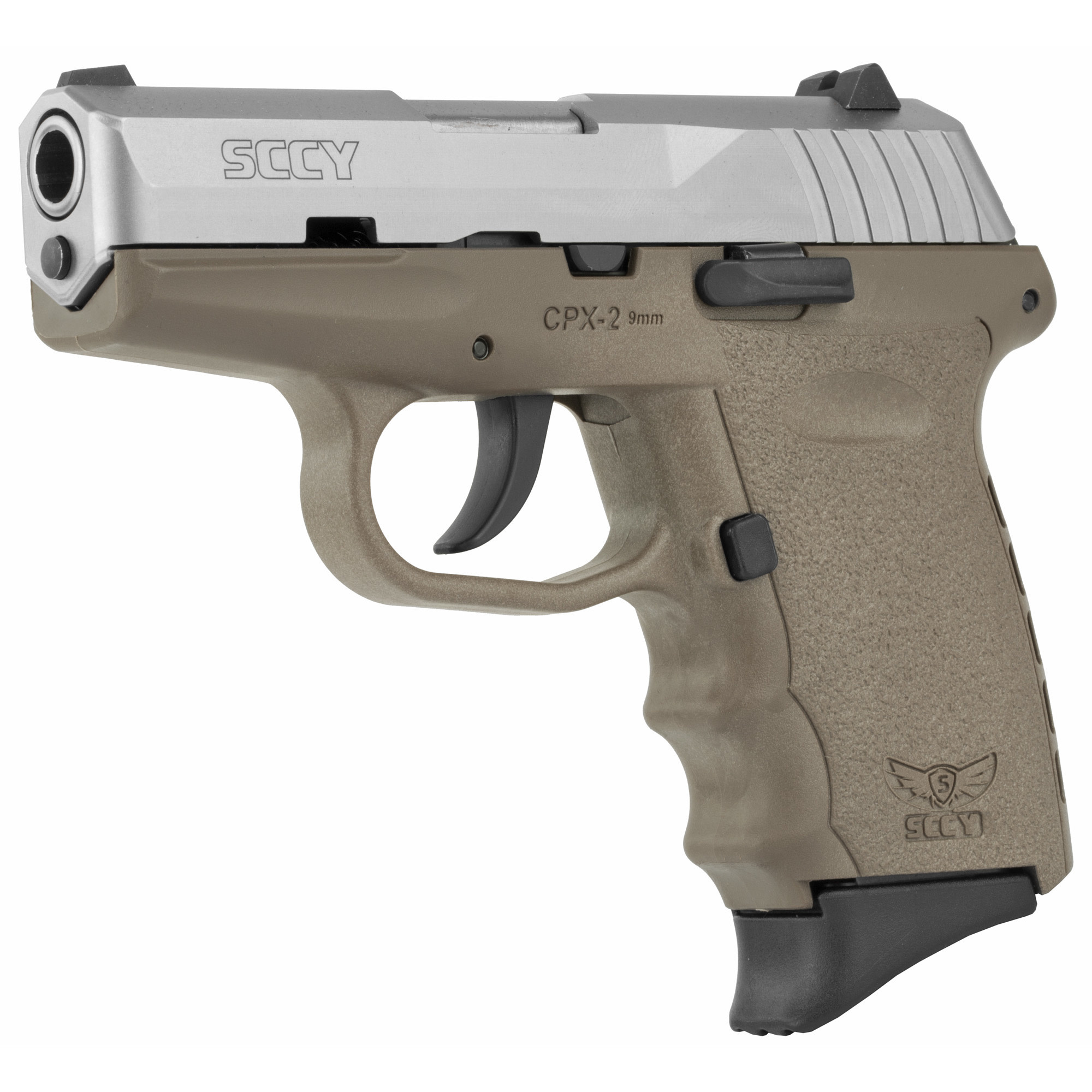 SCCY, CPX-2, Compact, 9MM, Satin and FDE Finish, 10Rd, 2 Magazines