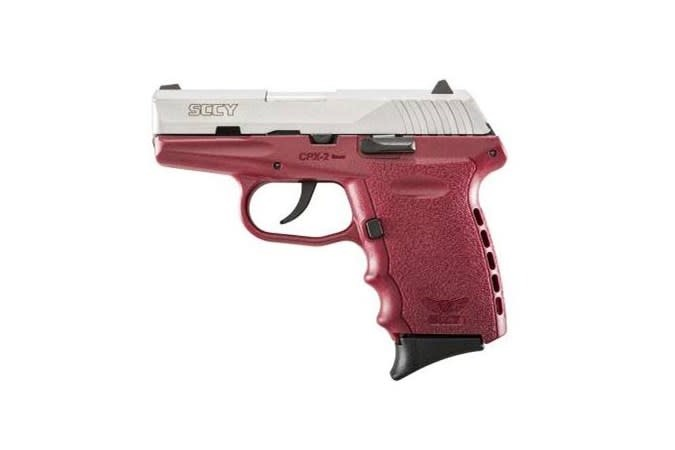 SCCY, CPX-2, Compact, 9MM, Satin and Red, 10Rd, 2 Magazines