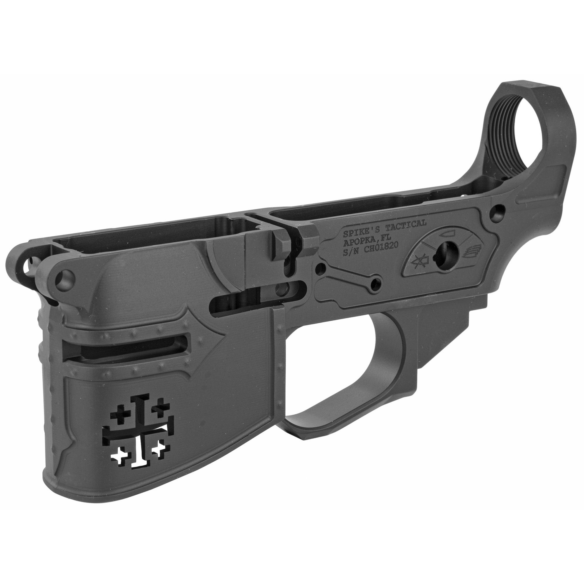 Spikes STLB600 Rare Breed Crusader AR Platform Multi-Caliber Black Hard Coat Anodized Lower