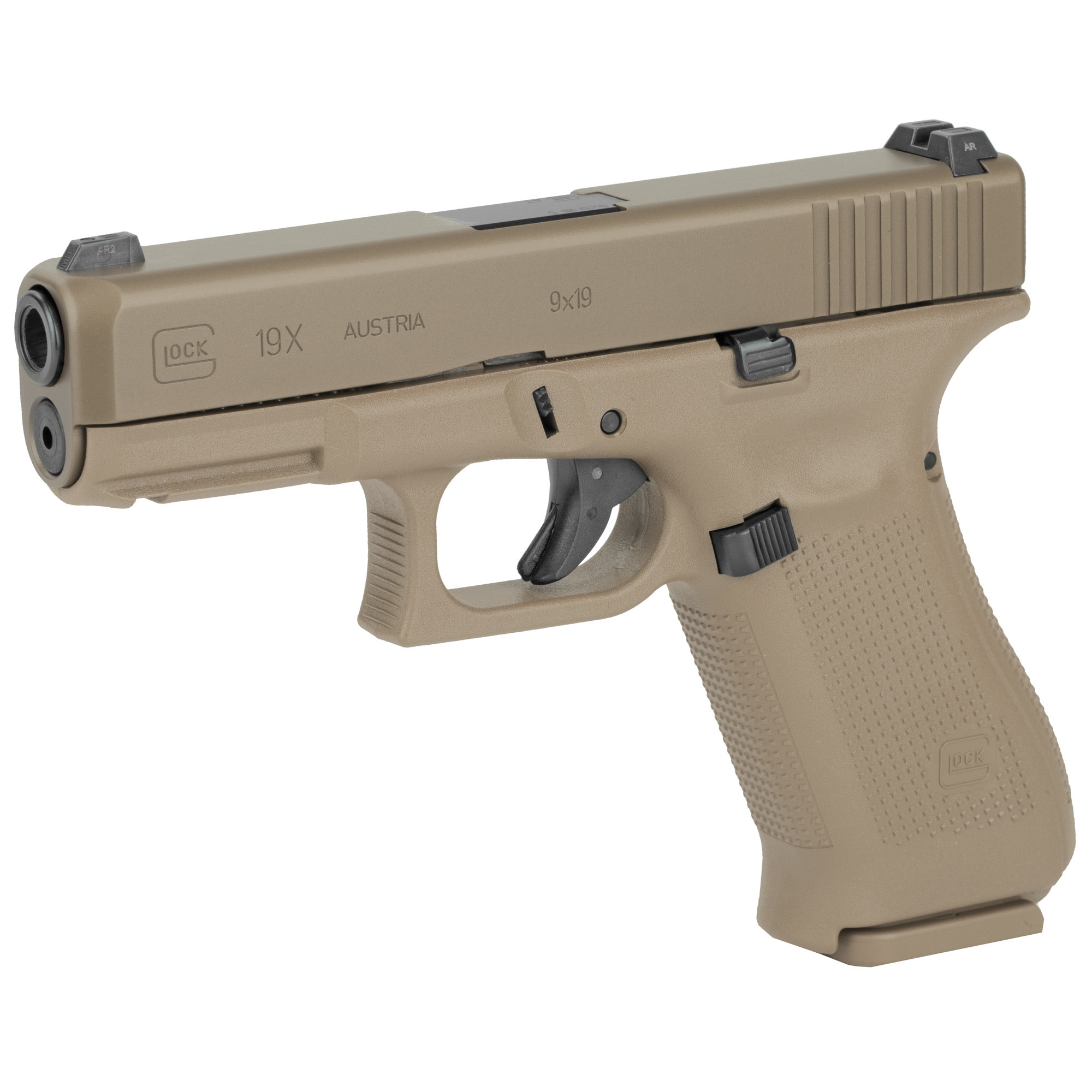 Glock 19X gen 5, 9mm, Coyote nPVD, 1 x 17rd and 2 x 17+2 mags
