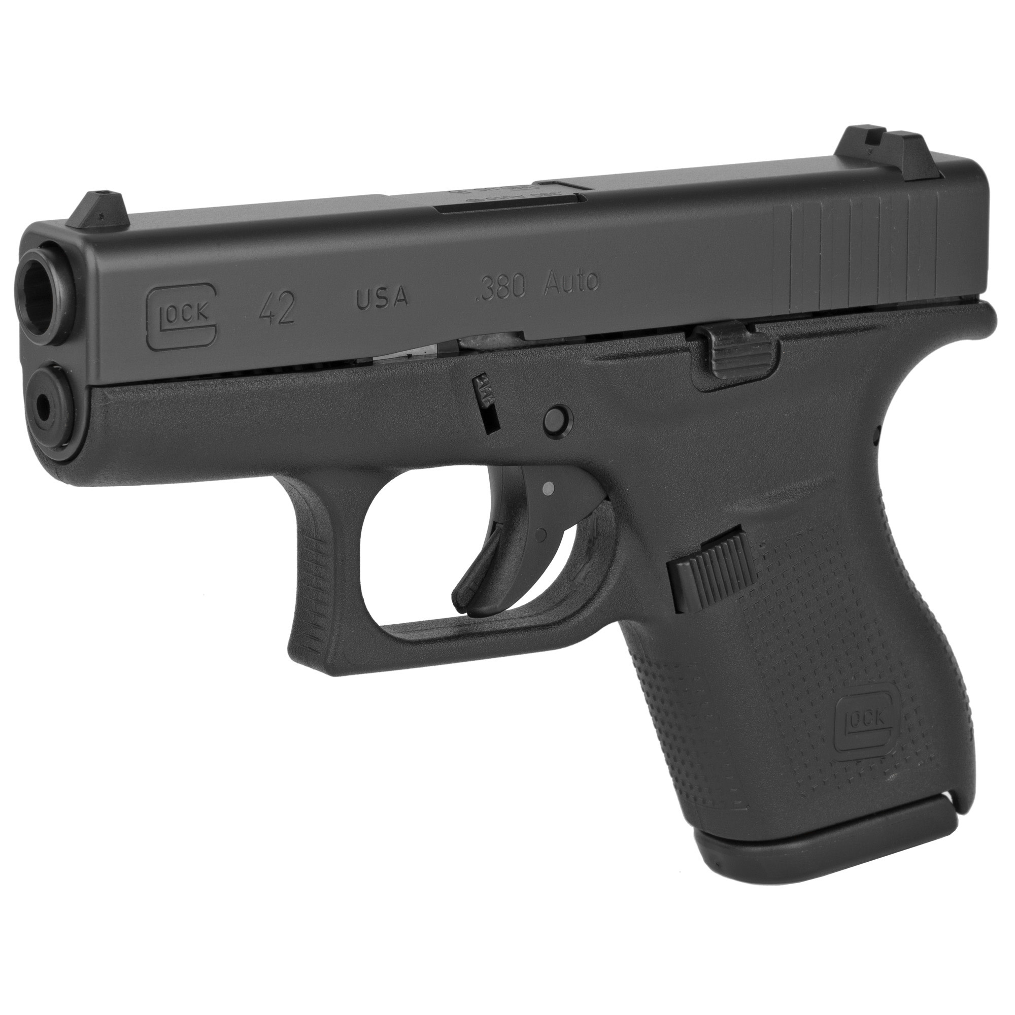 Glock 42 Gen 4, 380 acp, fixed sights, 6 rd, 2 mags