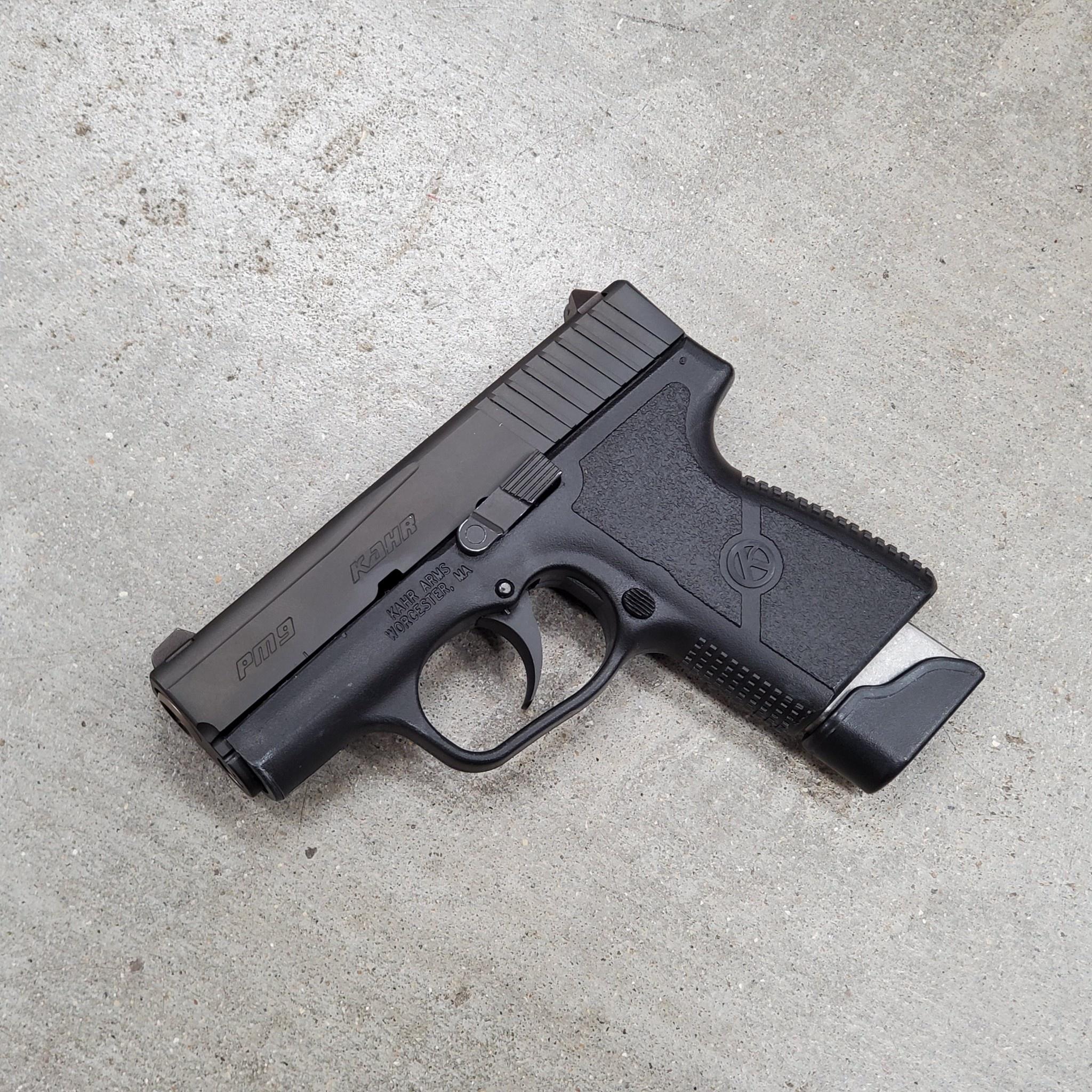 Used Kahr PM9, 9mm, black, 2 magazines