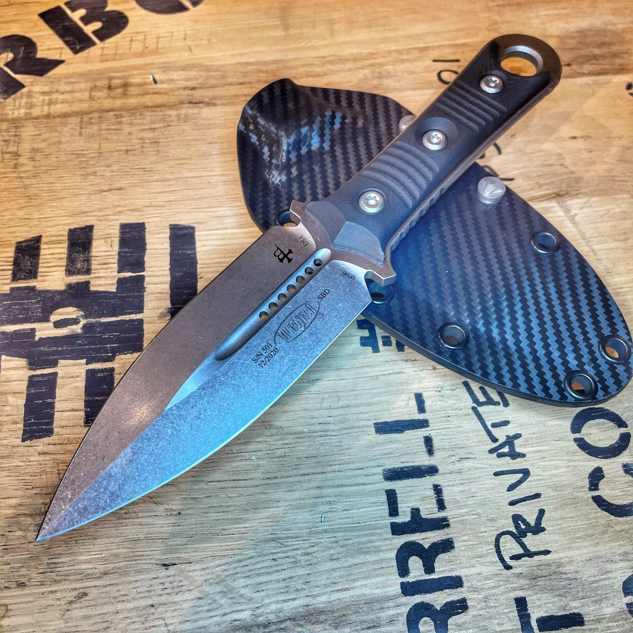 Sold Out - Microtech SBD, blade - stonewash