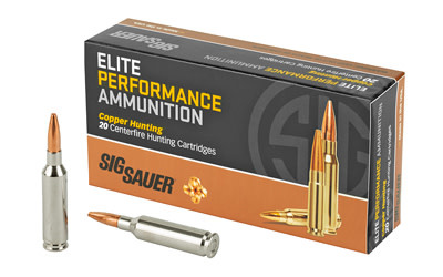 Ammo, Sig Sauer 6mm Creedmoor, 80 gr, Elite HNT, 20 rounds