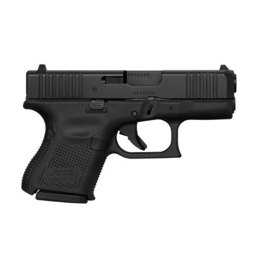 Glock 26 gen 5, 9mm, 3.5in, Fixed Sights, 3/10rd magazines, Front Serrations