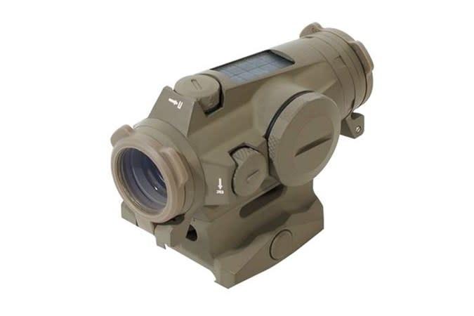 Sig Sauer Romeo 4T FDE Tactical/Solar Red Dot Sight, 2 MOA Circle Plex