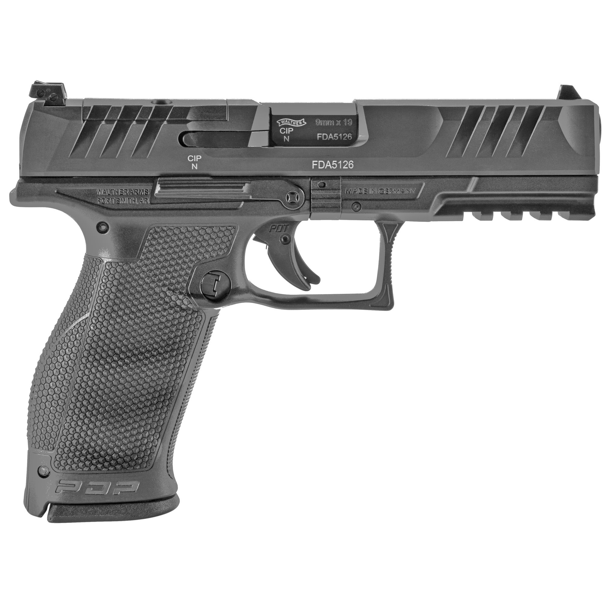 "Walther PDP, 9mm, 4"", Black Optics Ready, 18rds."