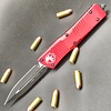 Microtech COMBAT TROODON, Red Frame, Blade - Double Edged Black Standard