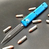 Sold Out - Microtech ULTRATECH, Blue frame, blade - black double edge standard
