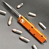 Sold Out - Microtech UTX-85, Orange frame, blade - single edge black standard