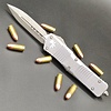 Sold Out - Microtech COMBAT TROODON, Distressed Grey Frame, Blade - Double edge, stonewashed standard