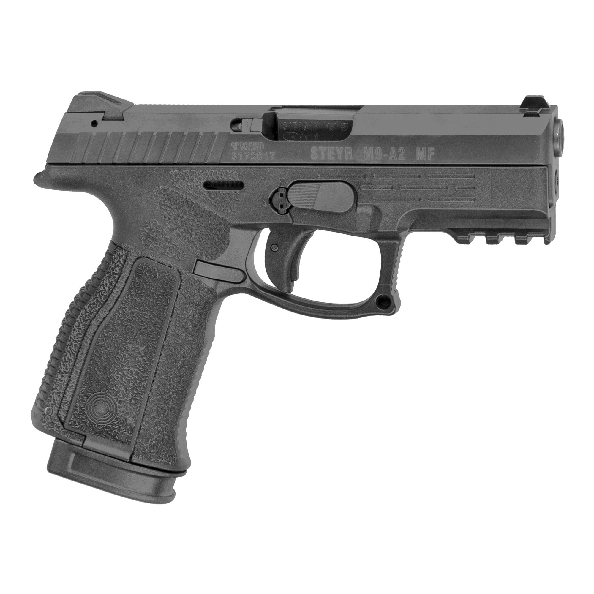 "Steyr M9-A2 MF 9mm, 4"", 17+1 Black"