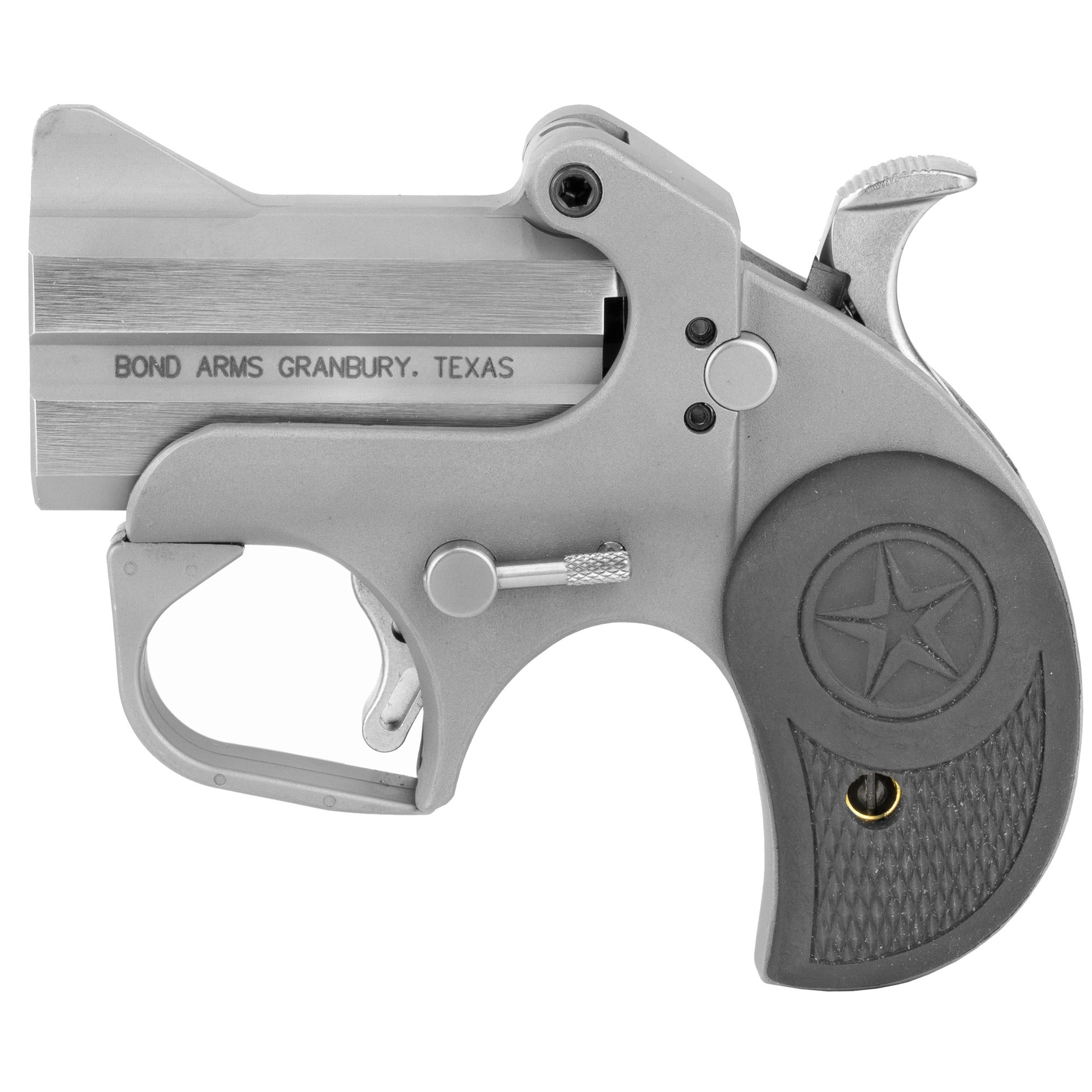 """Bond Arms Roughneck Derringer, 45ACP, 2.5"""", Stainless Steel, Rubber Grips"""