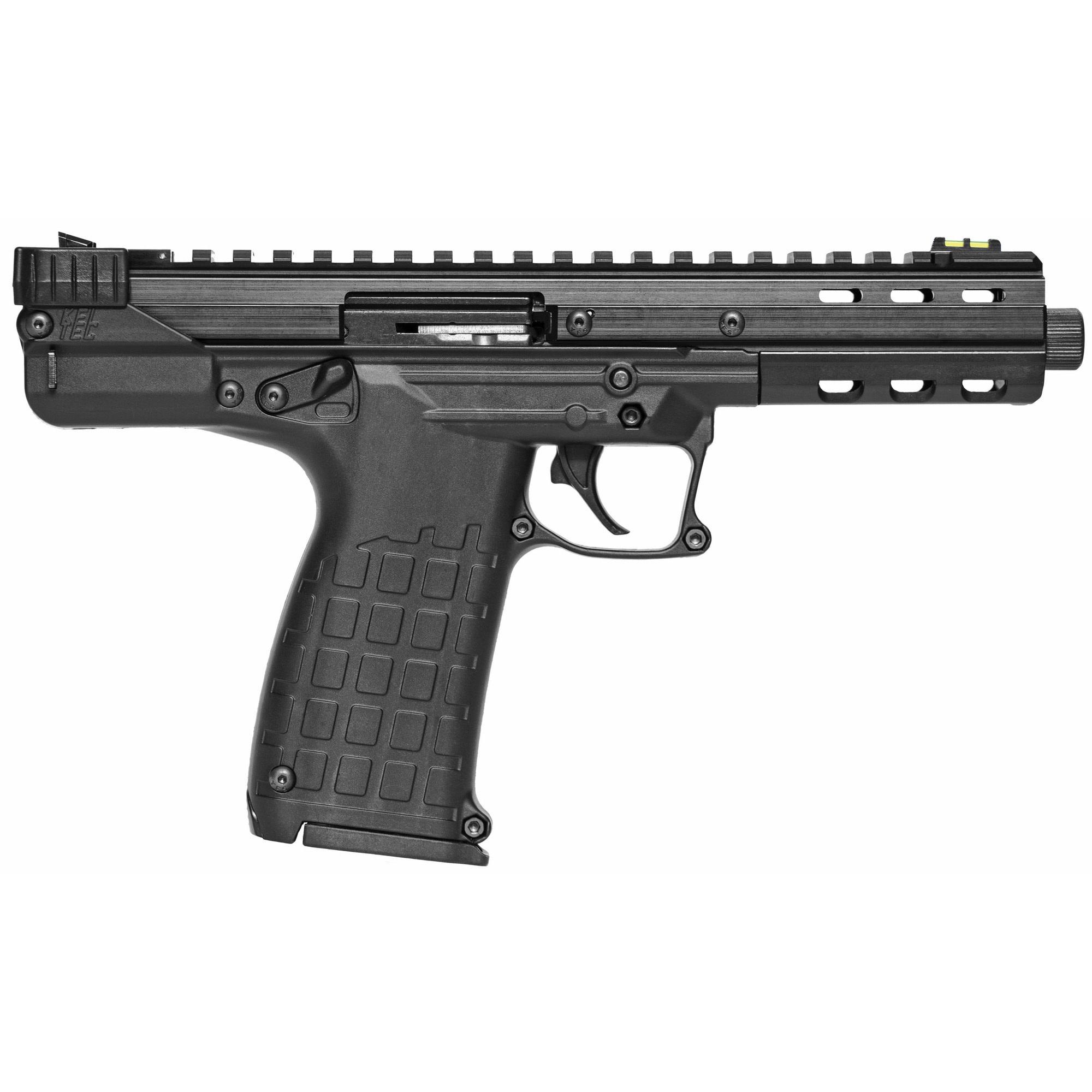 Kel-Tec CP33, 22 LR, 5.5'' Threaded Barrel, Polymer Frame, Adjustable Fiber Optic Sights, Black Finish, 33Rd, 2 Magazines